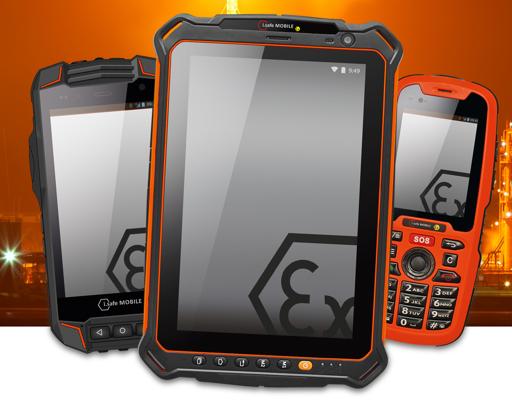 Intrinsically Safe phones and tablets